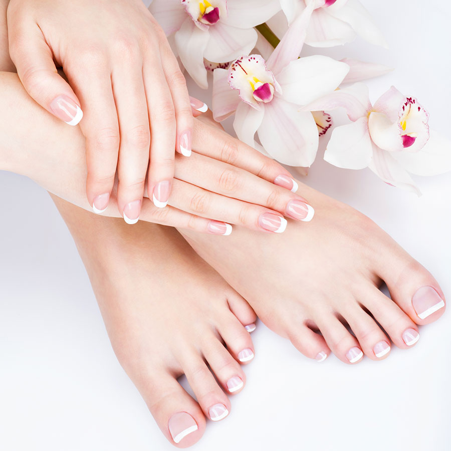 Nail treatments for hands and toes.