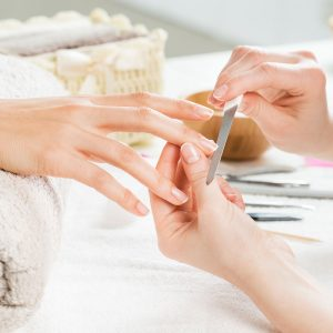 Manicure and nail care.